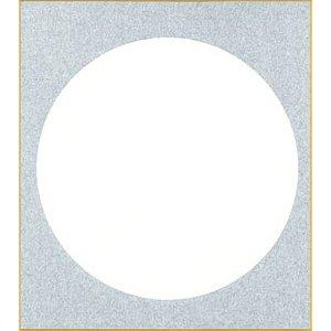 画像1: 大色紙 円窓 外銀10枚入 (1)