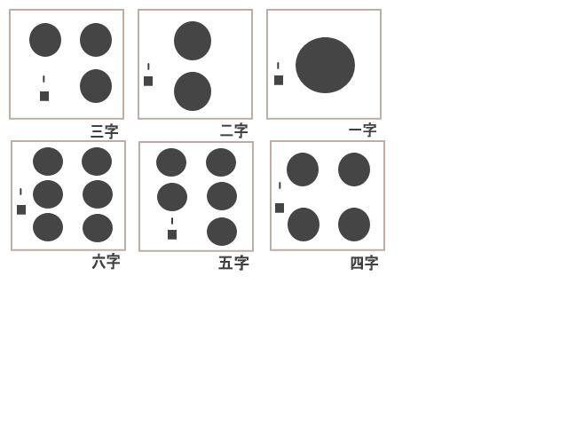 色紙の文字位置
