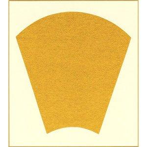 画像1: 大色紙 縦長扇面 内金10枚入 (1)