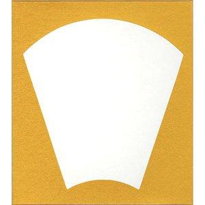 画像1: 大色紙 縦長扇面 外金10枚入 (1)