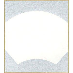 画像1: 大色紙 扇面 外銀10枚入 (1)