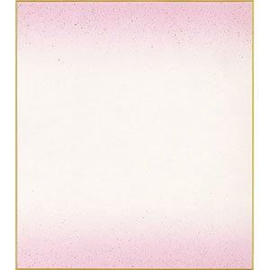 画像1: 大色紙 カラー砂子天地ぼかし 鳥の子 紫 (1)