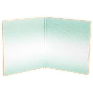画像1: 二つ折寸松庵色紙 砂子ぼかし10枚入 水色 (1)