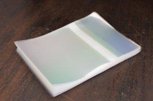 画像1: 小色紙用透明OPP袋テープ付100枚 (1)